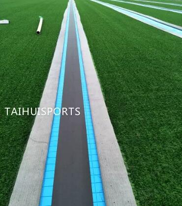 Water Proof Double-Sided Grooved Soccer Pitch Shock Pad Fake Grass Underlay Indoor Outdoor Recycled Odorless