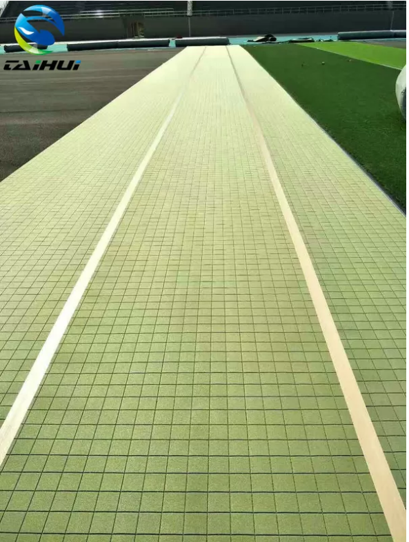 Crosslinked Green PE Foam Synthetic Grass Underlay Football Rugby Baseball Hockey Field Force Proof Customized Size