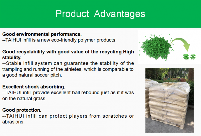 Economical TPE Rubber Infill For Artificial Turf Low Applied Amount Odorless Anti-Static Long Lifespan 2